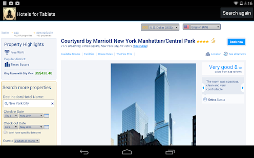 Hotels for Tablets - screenshot thumbnail