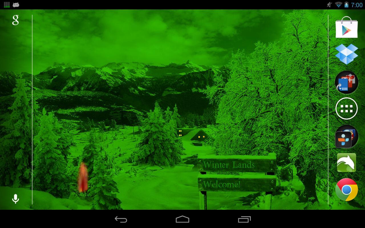 Winter Snow Live Wallpaper - screenshot
