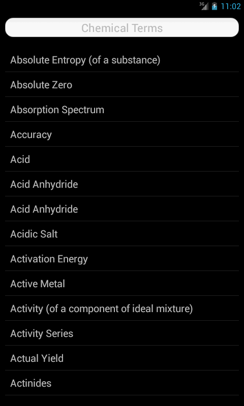 Chemistry Terms- screenshot