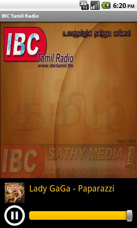 IBC Tamil Radio - screenshot