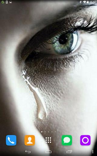 【免費個人化App】Tear On Cheek Live Wallpaper-APP點子