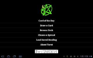Screenshot of TarotBot Android tarot reader