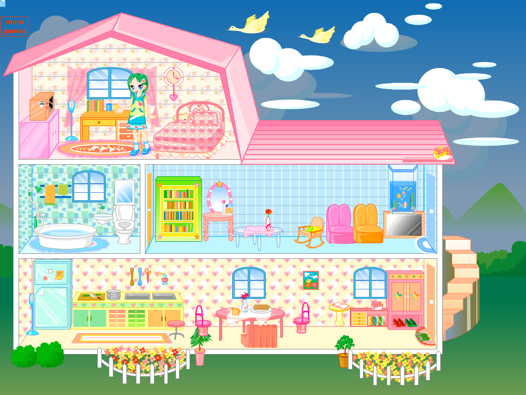 Decorating Doll House Games
