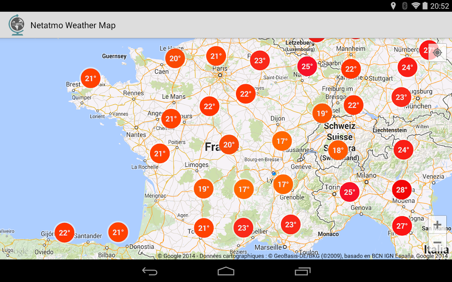 netatmo weather map beta android apps on google play. Black Bedroom Furniture Sets. Home Design Ideas