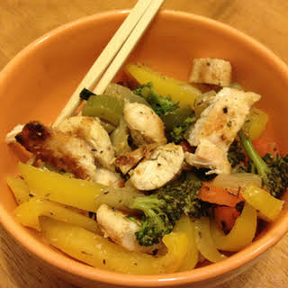 Jamaican Jerk Stir Fry with Celery and Carrots.