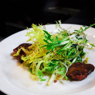 Frisée Salad with Duck Livers.