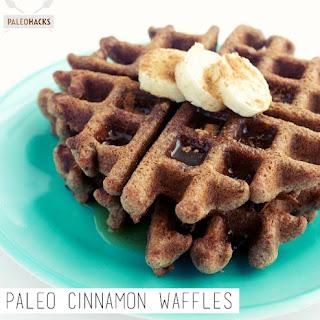 Paleo Cinnamon Waffles.