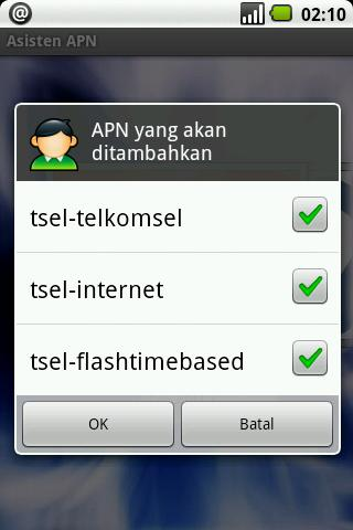 Asisten APN (beta) - screenshot