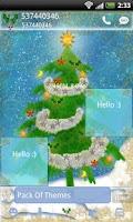 Screenshot of GO SMS Pro Christmas Tree v2