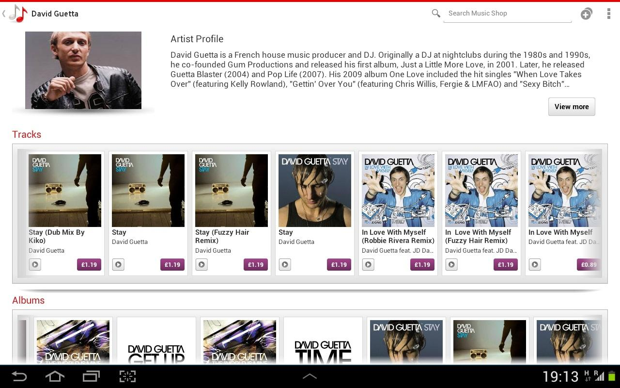 Vodafone Music Shop - screenshot