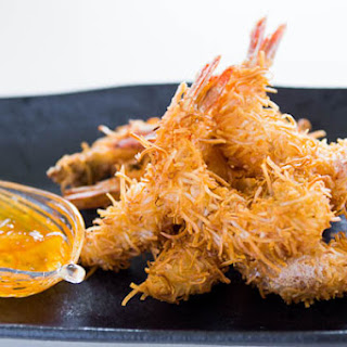 Coconut Shrimp with Spicy Orange Sauce.