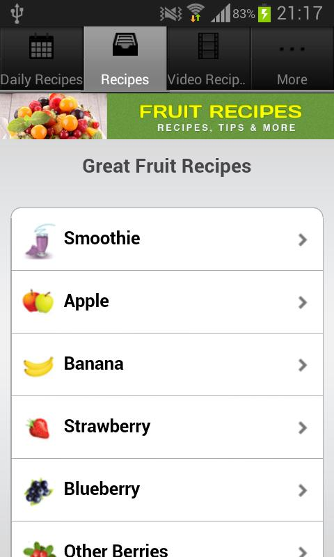 Fruit Recipes! - screenshot