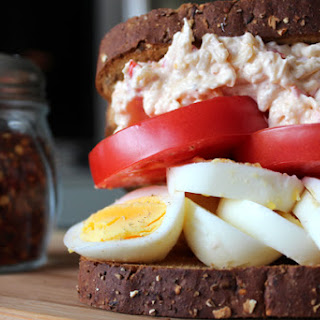 Egg Sandwich with Pimento Cheese.