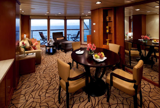 Celebrity_Infinity_CelebritySuite - Enjoy the space and opulence of Celebrity Infinity's sophisticated suites while you cruise.