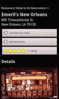 Screenshot of No Reservations Locator
