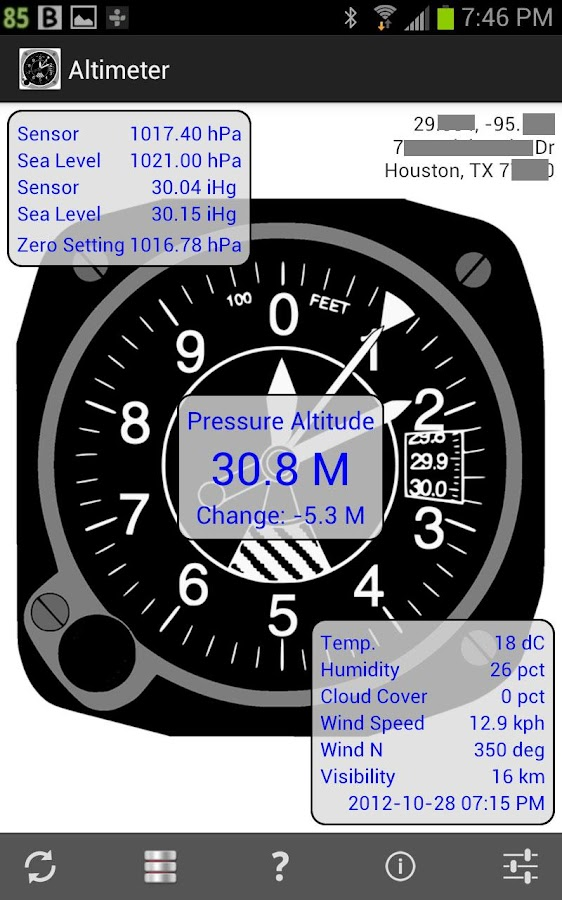 Altimiter & Barometer Monitor - screenshot