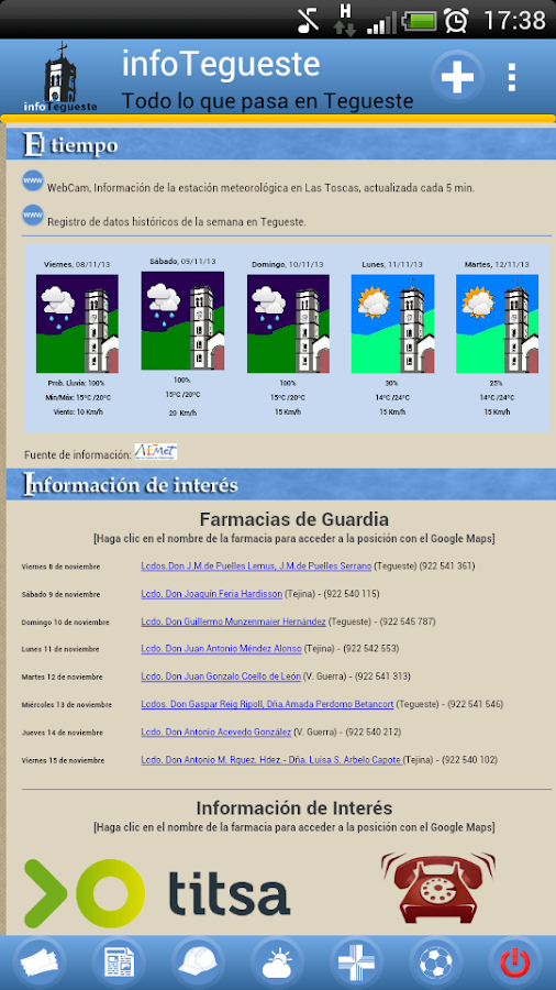 InfoTegueste- screenshot