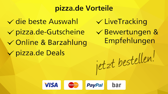pizza.de - order food online- screenshot thumbnail