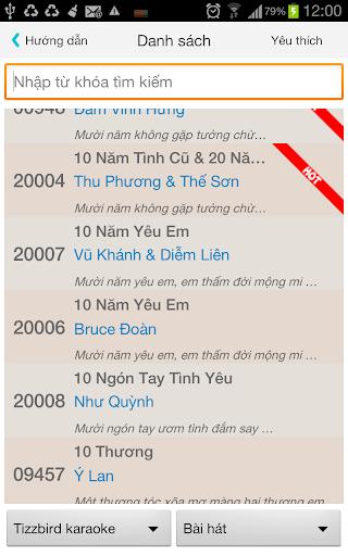 Karaoke Audio List