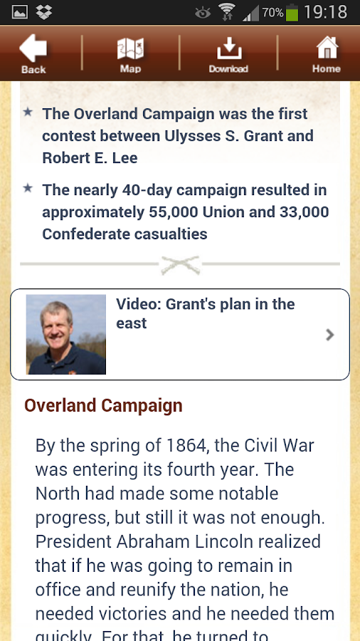Overland Campaign Battle App - screenshot