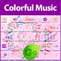 GO Keyboard Colorful Music icon