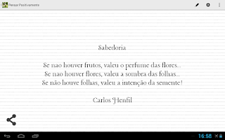 Screenshot of Think Positively in Portuguese