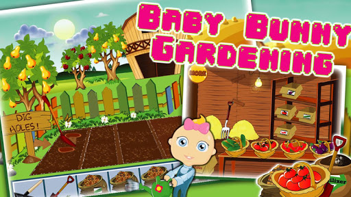 Baby boy gardening