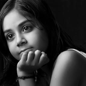 The Beautiful Mind by Rathin Halder - Black & White Portraits & People (  )