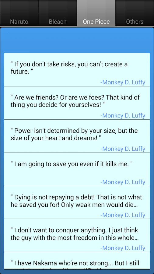 Anime Quotes - screenshot