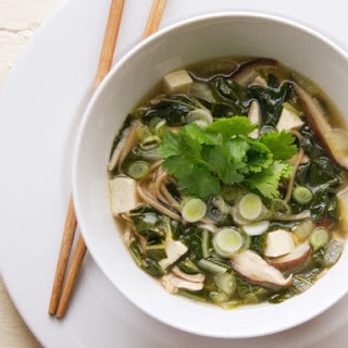 Soba Noodle Soup with Chicken, Tofu, and Bok Choy.