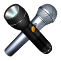 Karaoke Neon voice flashlight icon