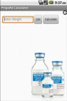 Screenshot of Propofol Calculator