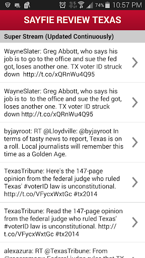 Sayfie Review Texas