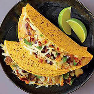 Spicy Potato Tacos.