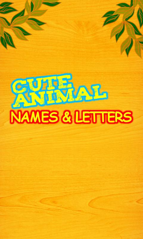 Cute Animal Names Free- screenshot
