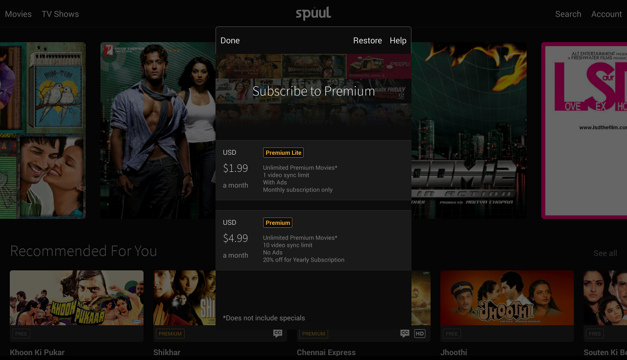 Spuul - Indian Movies & TV - screenshot