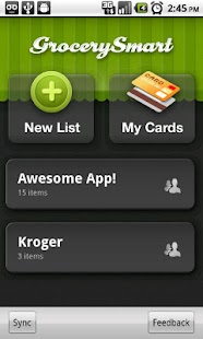Grocery Smart - Shopping List - screenshot thumbnail