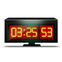Black Alarm Clock logo