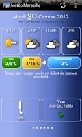 Screenshot of Météo Marseille
