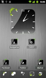 Crystal Black Clock Widget Screenshot 7