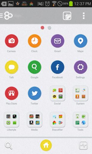 【免費個人化App】Rainbow GO launcher theme-APP點子