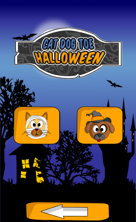 Cat Dog Toe Halloween - 🎃 Tic Tac Toe 🎃- screenshot