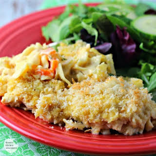 Easy Cheesy Chicken Noodle Casserole.