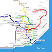LISBOA METRO PORTUGAL MAP HD