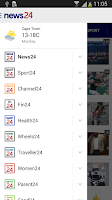 Screenshot of News24
