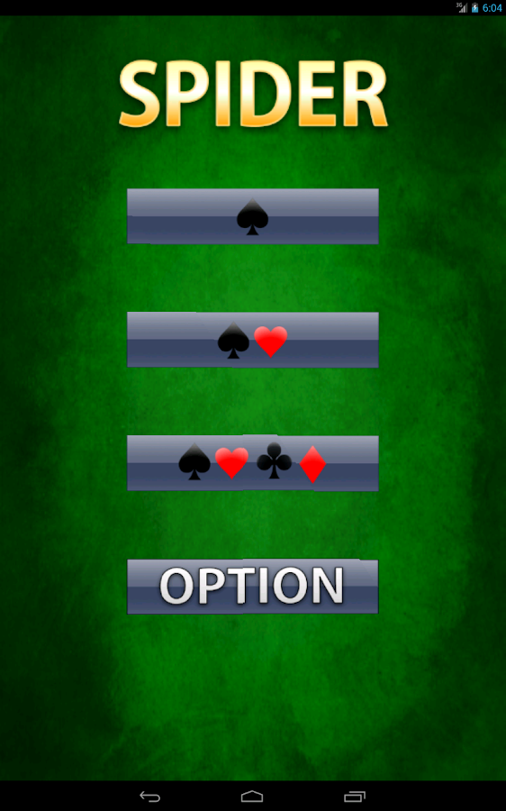 card game solitaire spider
