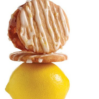 Lemon-Glazed Candied-Ginger Cookies.