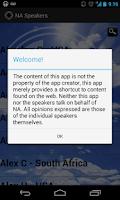 Screenshot of NA Speakers