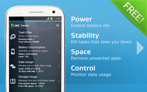 AVG Battery Saver & TuneUp - screenshot thumbnail
