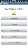 Screenshot of BSC Designer Android
